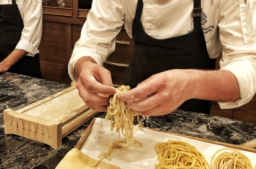 freshly made pasta at Veritas doha