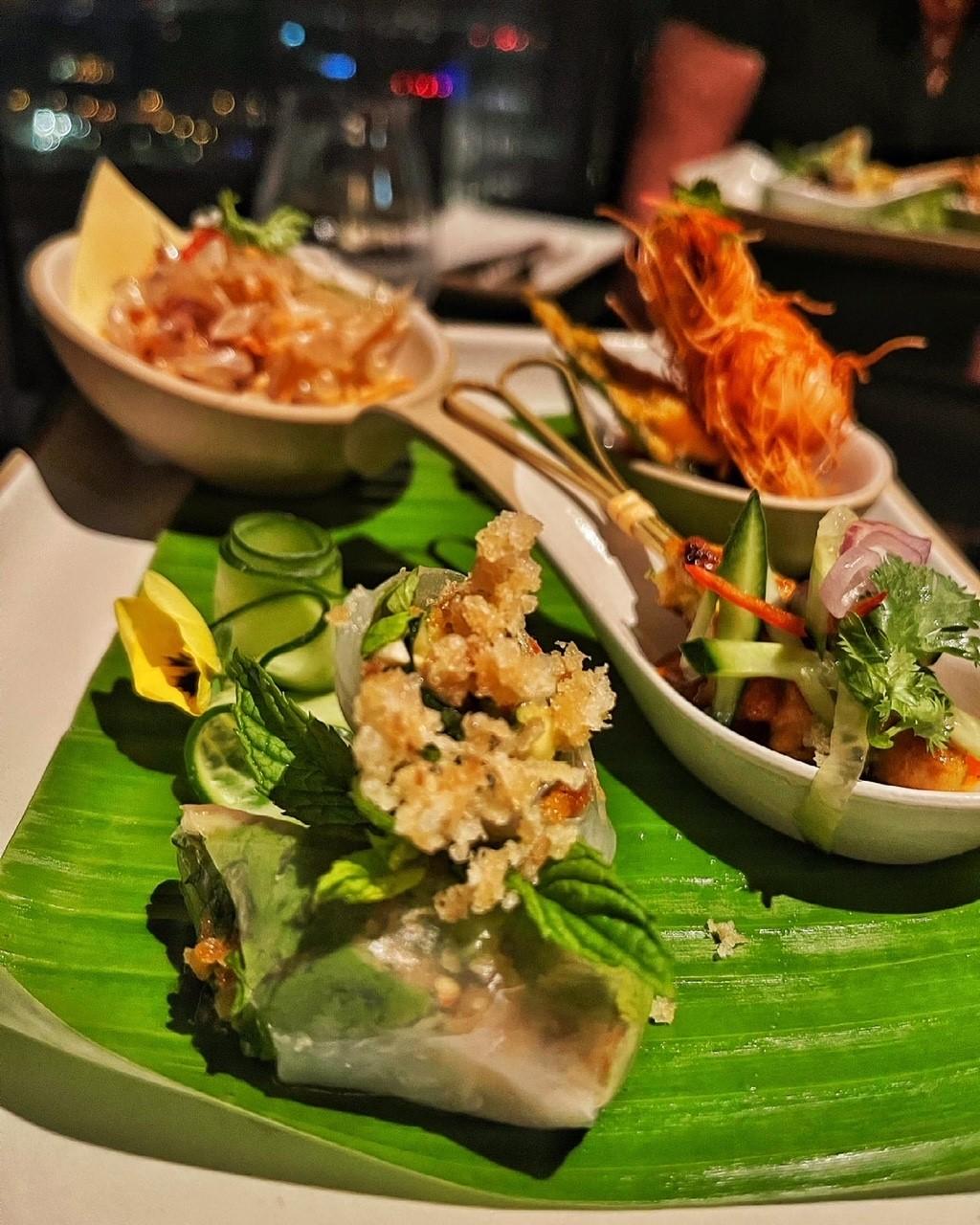 Thai starter plate at Saffron Banyan Tree Doha
