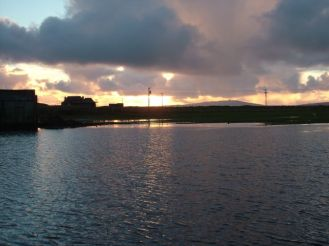 Sunset over our new lochan