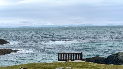 A bit nippy to sit and admire the view