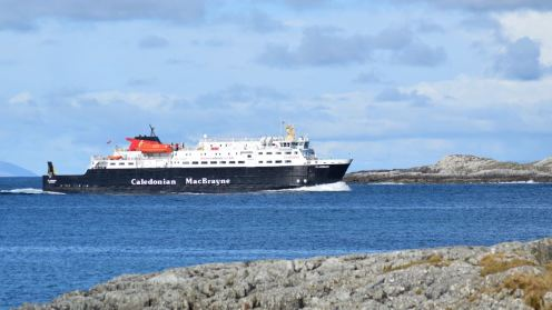 The Clansman gracefully enters the Sound