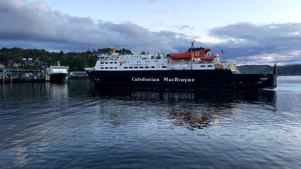 The MV Clansman returning from Barra, Tiree and Coll.