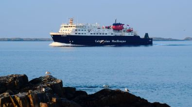 The Clansman sailing into the setting sun