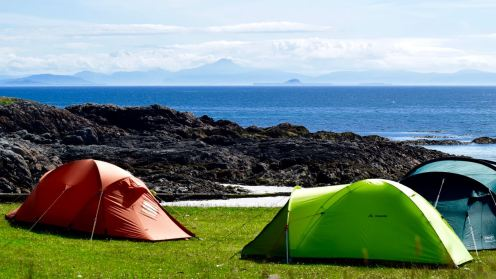 Camping with a view