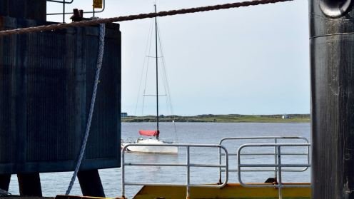 Watch framed by the Clansman, Ropes and Linkspan