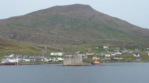 Kisimul Castle and lifeboat