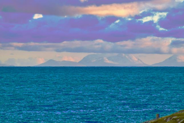 The Paps of Jura from Scarinish Harbour