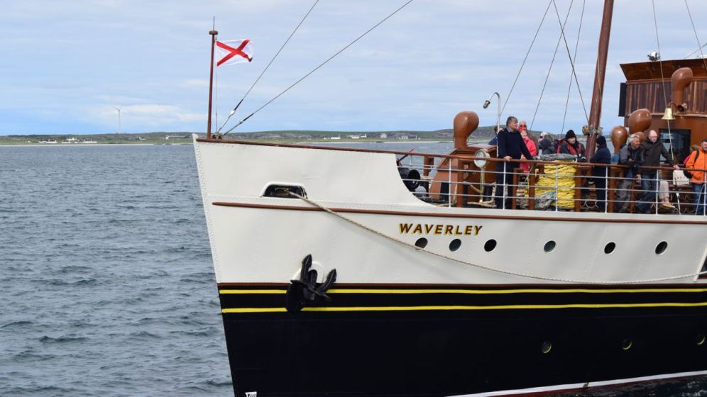 The bow of the 'Waverley'.