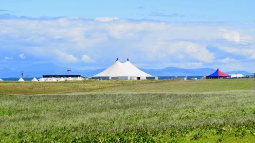 The Big Top with Mull as a backdrop