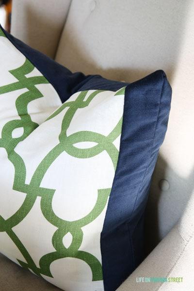 Tonic Living Fabrics throw pillow