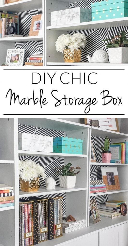 DIY Marble Storage Box