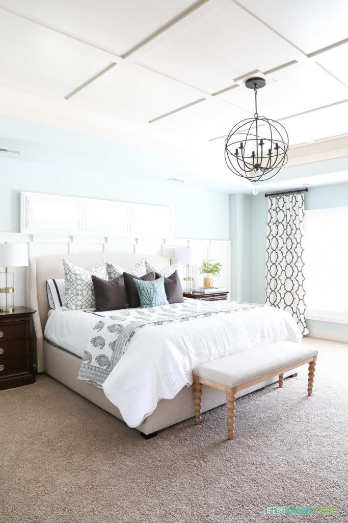 spring master bedroom life on