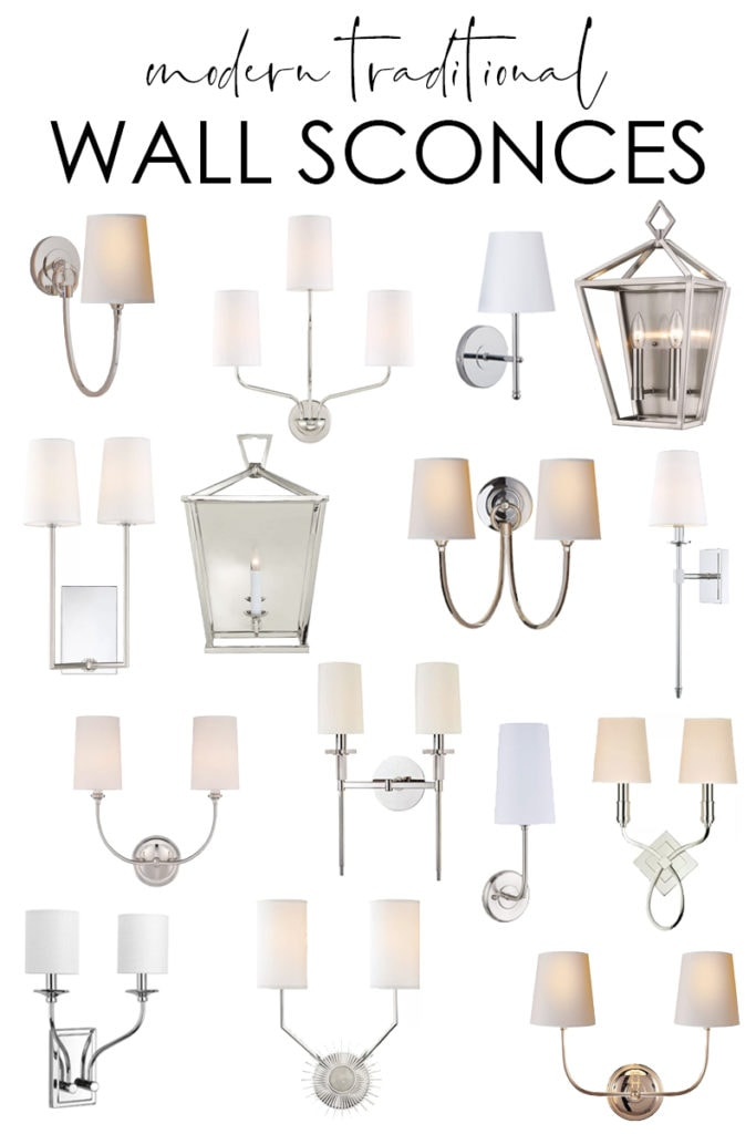modern traditional wall sconce lighting
