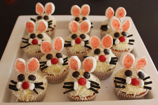 complete easter bunny cupcakes