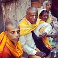 The white & the saffron of Vrindavan!