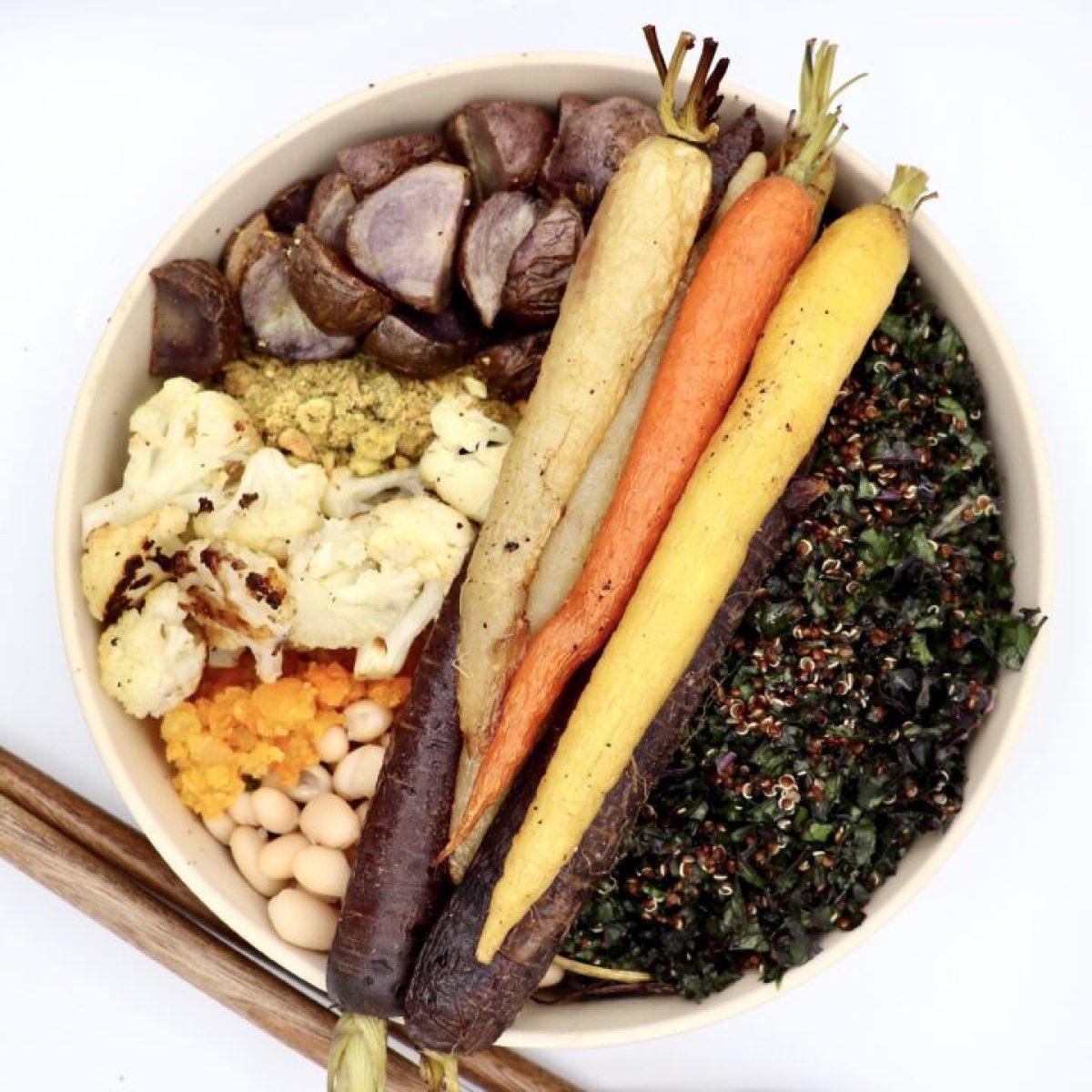 Winter Roasted Veggie Buddha Bowl (Vegan)