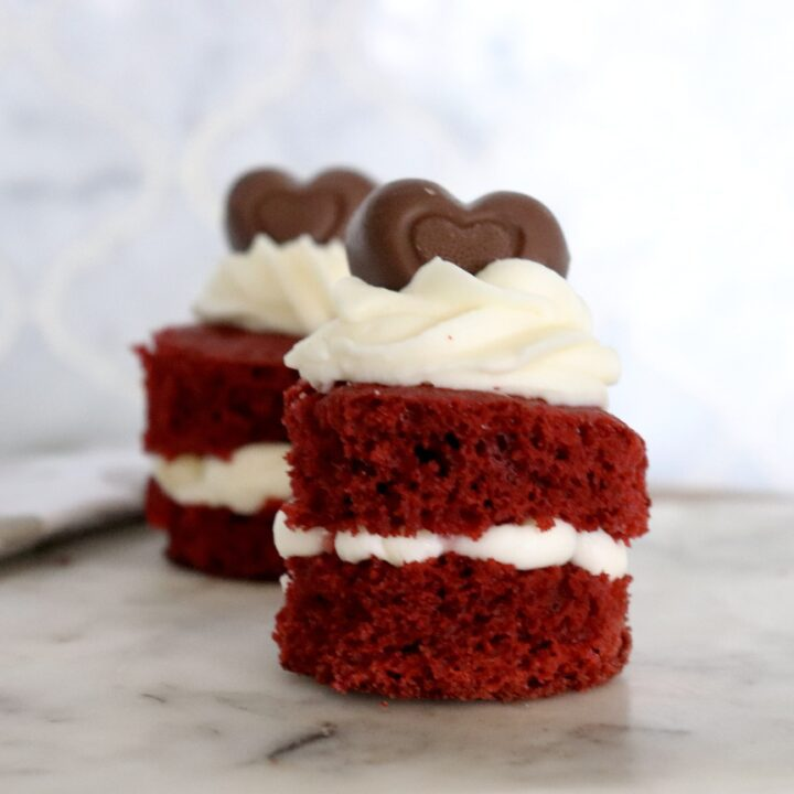 Mini Red Velvet Cakes  (Petit Fours)