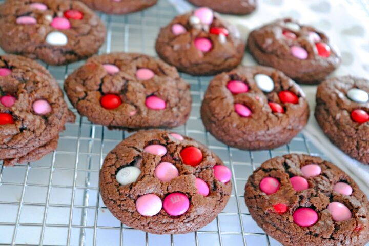 Double Chocolate Chip Cookies on Rack