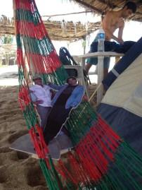Julia and Michael in the hammock