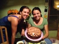 Birthday banana cake for Grace!