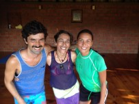 Saying adios to Isa, yoga teacher!