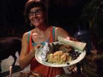 Mole chicken and green bean casserole!