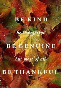 Kind Thankful