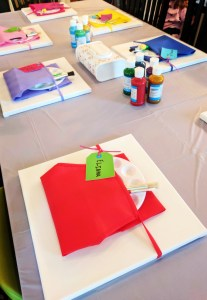 Toddler Party Table set-up