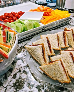 Toddler party Lunch spread