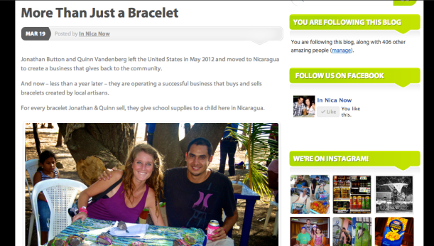 In Nica Now- More than just a bracelet