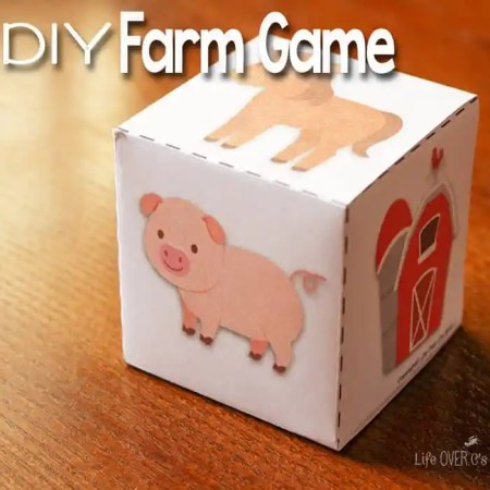 DIY Farm Animal Game with Free Printable This DIY Farm Game with free printable dice for preschoolers is a great way  to work