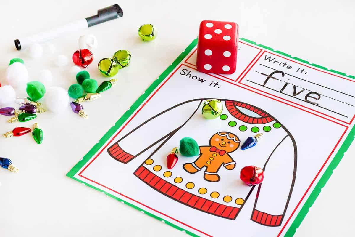Christmas Pre K Math And Literacy Bundle 35 Activities