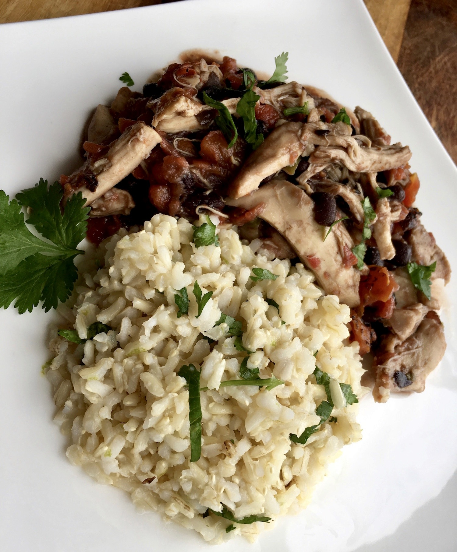 Mexican Cilantro Lime Rice on a Plate