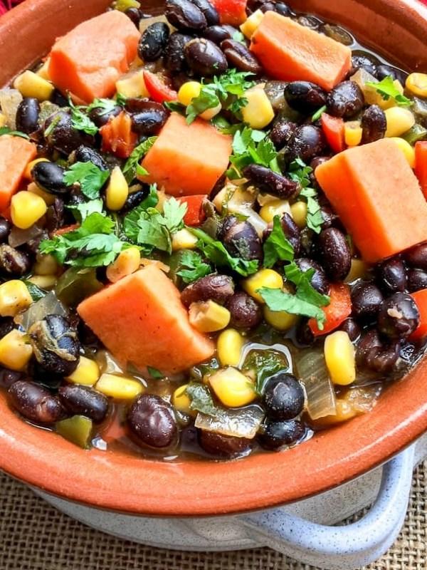 Black Bean and Sweet Potato Soup Recipe