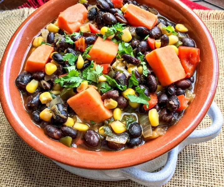 Black Bean and Sweet Potato Soup Recipe