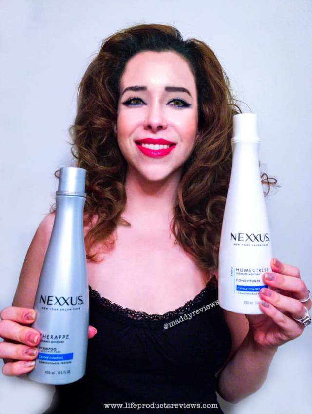 Nexxus humectress conditioner therappe shampoo after outcome demostration