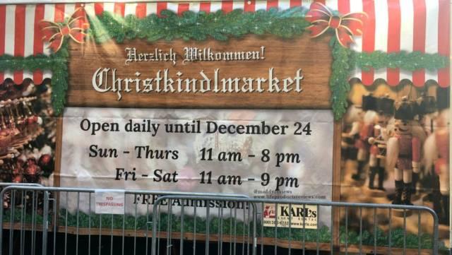 Christkindlmarket-schedule-bulletin-time-hours-days
