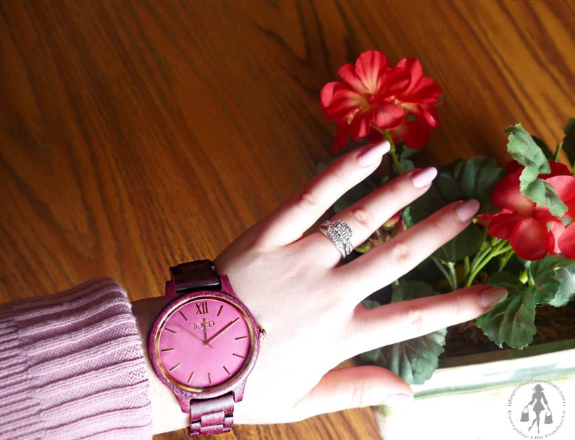 JORD-Pink-Red-tone-wooden-watch-logo