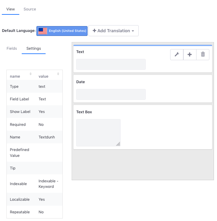 Figure 3: Edit your metadata sets fields to match the metadata that you want each field to hold.