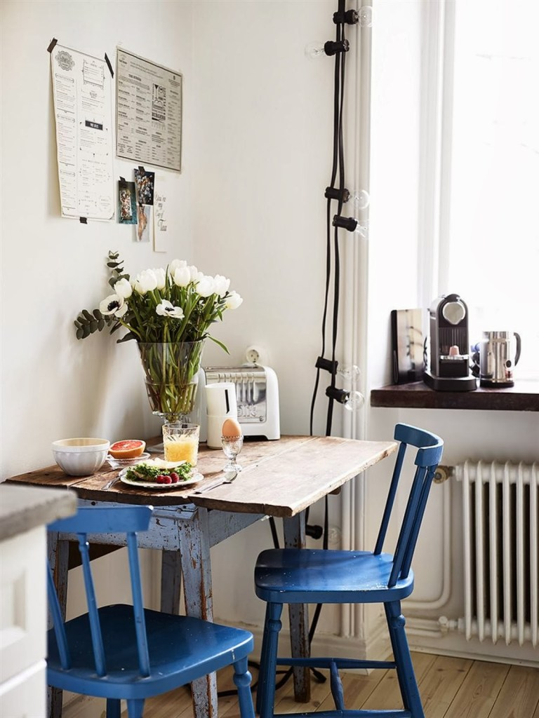 blue chairs by feebly