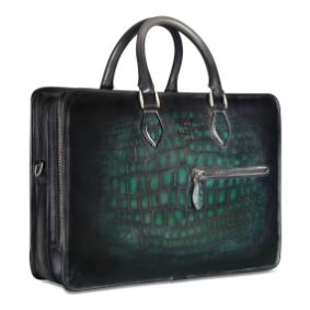 Berluti 2 Jours Leeather Piatina Illusion Scales Briefcase