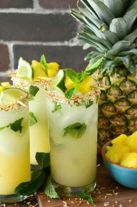 Pineapple Coconut Mojito Drink