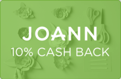JOANN 10% Cash Back