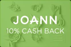 JOANN 10% Cash Back