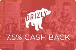 Drizly 7.5% Cash Back