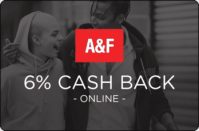 Abercrombie & Fitch 6% Cash Back