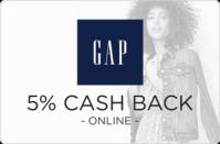 Gap 5% Cash Back