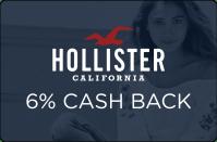 Hollister California 6% Cash Back