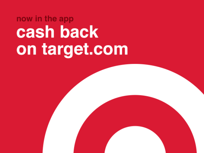 Now in the app - cash back on target.com