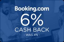 Booking.com 6% Cash Back - Was 4% -